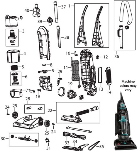 Wiring Diagram For Bissell Vacuum Cleaner by Bissell Proheat 2x Parts Diagram