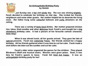 essay on surprise birthday party for friend