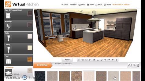 homedepot virtual kitchen youtube