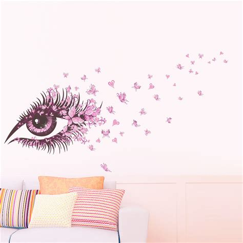 stikers chambre fille charming eye wall sticker for rooms flower