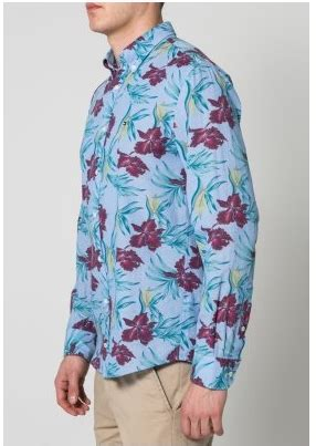 baju kemeja pria motif bunga trend fashion masa kini gaya masa kini terbaru