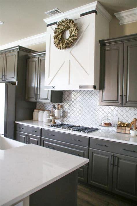 modern farmhouse kitchen  cabinet color urbane