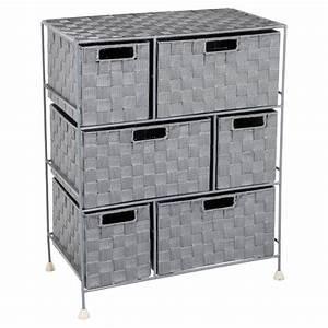 Meuble Rangement Gris : meuble de rangement 6 tiroirs 60cm gris clair ~ Teatrodelosmanantiales.com Idées de Décoration