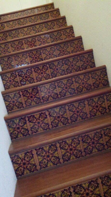 mexican talavera tile stairs home ideas pinterest