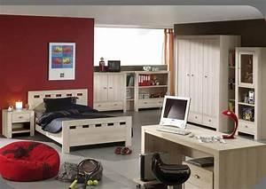 Chambre Avec Bureau : bureau chambre gar on rouge photo 9 10 une chambre gar on rouge avec bureau ~ Dode.kayakingforconservation.com Idées de Décoration