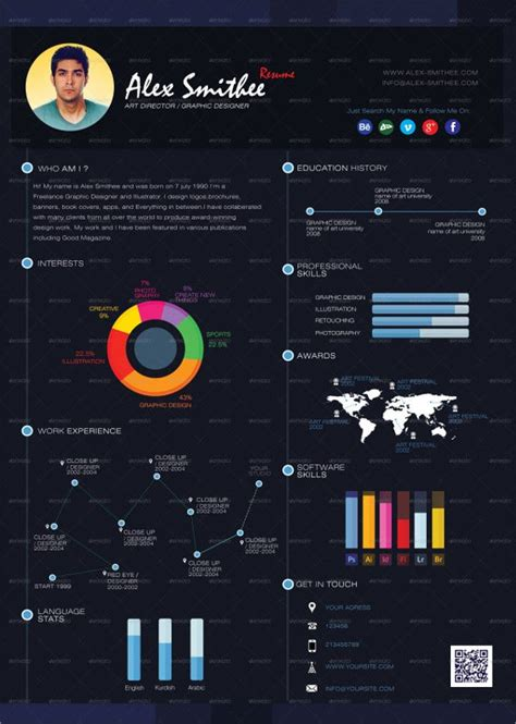 infographic resumes  psd vector ai eps format