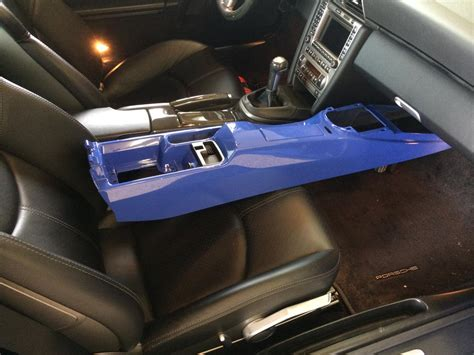 replacing carbon center console  maritime blue