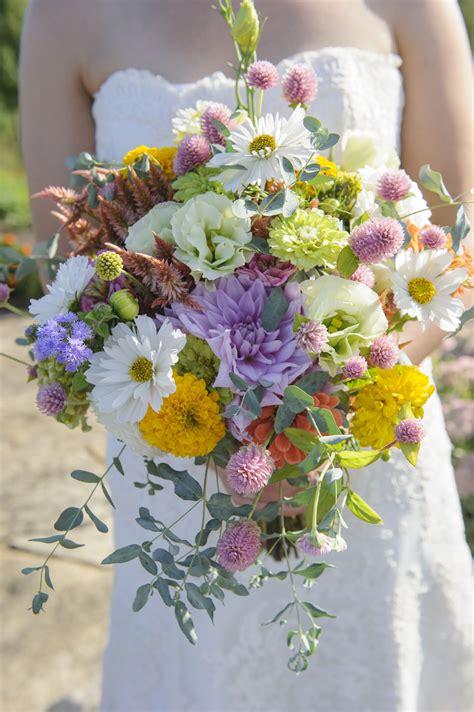 field grown wedding bouquets  lovely bridal