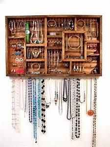 Rangement Bijoux Mural : boite pour ranger ses bijoux pour tiroir ou organisateur mural ~ Teatrodelosmanantiales.com Idées de Décoration