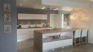 modele de cuisine avec ilot paodomnet With superior meuble ilot central cuisine 0 ilot central cuisine en bois uzes
