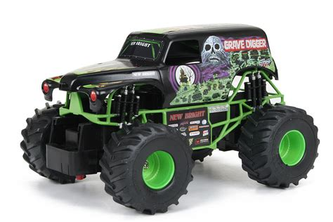 rc monster trucks grave digger new bright 1 24 scale r c monster jam grave digger