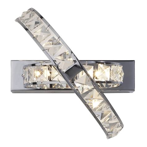 eternity crystal wall light dar ete3050 eternity 3 light crystal wall light