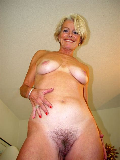 Older Blonde House Wife Strips To Show Her Nice Hairy