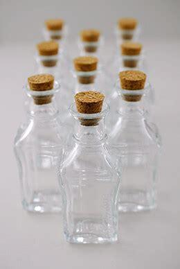 small glass bottles  cork  pack