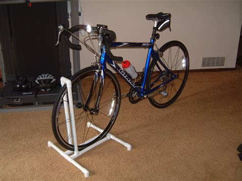 Exterior Wall Mounted Homemade Bike Rack With Vertical