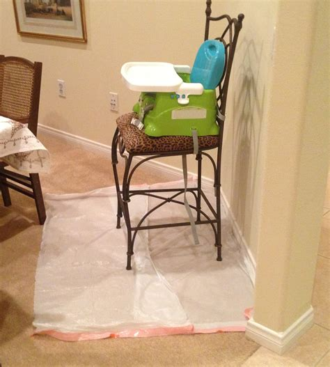 High Chair Splat Mat by Today S Hint Diy Disposable High Chair Splat Mats Hint