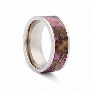 pink titanium pink camo womens pink camo wedding rings With female camo wedding rings