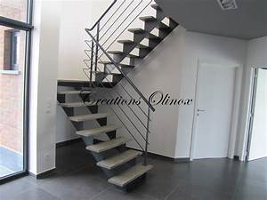 Escalier Metal Et Bois : escalier sur tournai olinox cr ations ~ Dailycaller-alerts.com Idées de Décoration