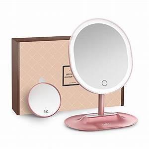 Miroir Avec Lumière Pour Maquillage : achat anjou miroir maquillage lumineux rechargeable avec ~ Zukunftsfamilie.com Idées de Décoration