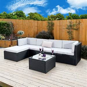 6 Piece Barcelona Modular Rattan Corner Sofa Set from ...