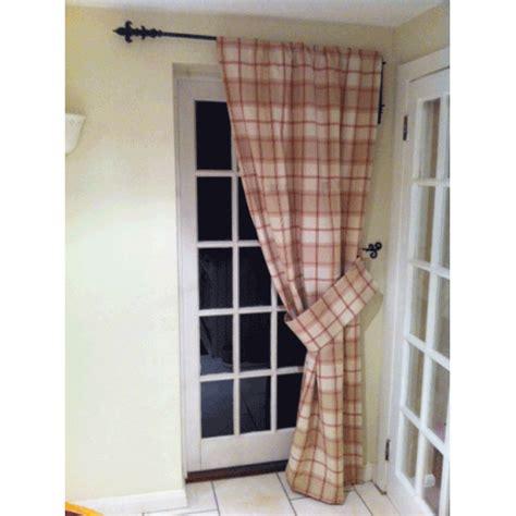 Portiere Drapery by Iron Metal Swinging Door Curtain Pole Rod Crane Drapery