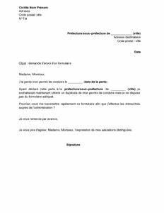 Déclaration De Perte Du Permis De Conduire : exemple gratuit de lettre demande envoi formulaire obtenir duplicata permis conduire perte ~ Medecine-chirurgie-esthetiques.com Avis de Voitures