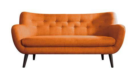 canapé orange adele canapé 3 places scandinave tissu orange les