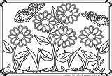 Coloring Garden Flower Pages Colouring Printable Spring Sheets Flowers Gardens Adult Coloringhome Summer Books Coloringtop Animal Landscape Butterflies Butterfly Whitesbelfast sketch template
