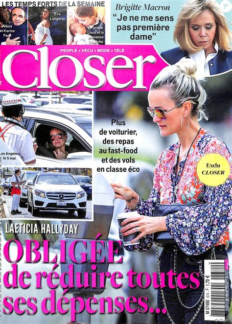 Couverture du magazine Closer, numéro du 11 mai 2018 ...