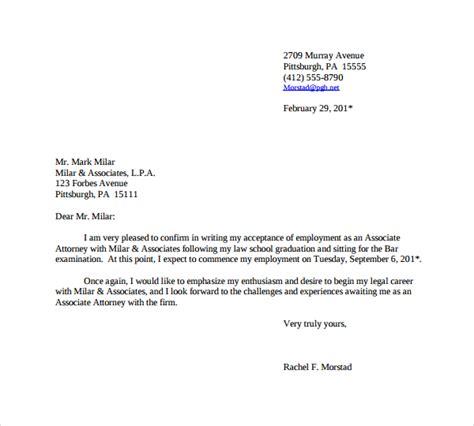 sle offer acceptance letter 9 download free sle thank you letter for job offer 9 download free