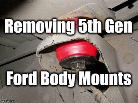 removing  gen ford truck body bushings  frame youtube