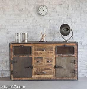Buffet Vintage Pas Cher : mobilier industriel vintage pas cher meuble tv industriel pas cher ~ Teatrodelosmanantiales.com Idées de Décoration
