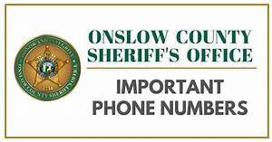 Sheriff's Office   Onslow County, NC