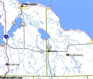 Black Lake Onaway Michigan Map