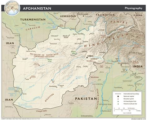 maps  afghanistan detailed map  afghanistan