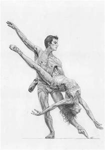 Drawings People Dancing Ballet