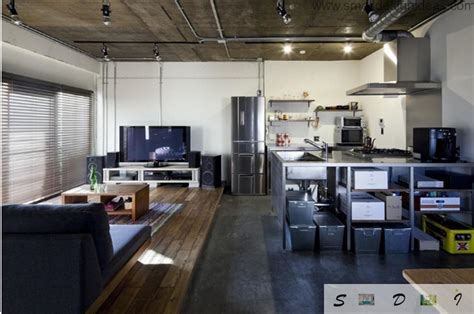 Loft Kitchen Ideas - japanese studio apartment loft design