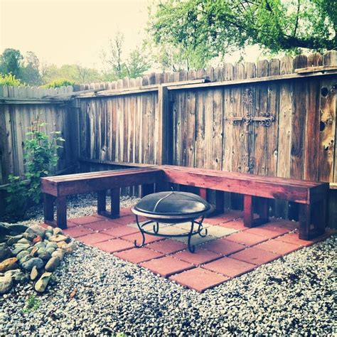 shaped bench diy    furniture fire pit