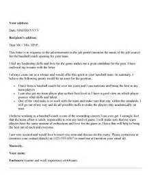 coaching cover letter soccer coach cover letter sle