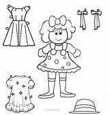 Doll Paper Dolls Coloring Pages Templates Printable Template Print Clothes Outs Cool2bkids Popular sketch template