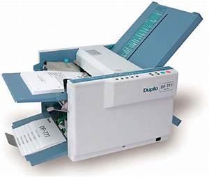 duplo df 777 paper folding machine paper folder With manual letter folder