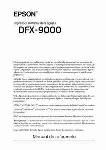 Epson Dfx9000 Printer Download Manual For Free Now