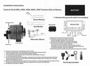 Ford 3000 Tractor Generator Wiring Diagram For To