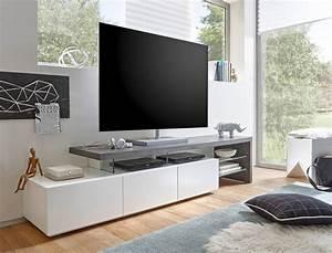 Tv Board Skandinavisch : lowboard alessa ii 204x40x44 cm wei beton dekor tv board ~ Michelbontemps.com Haus und Dekorationen
