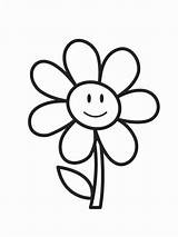 Colouring Coloring Pages Flower Printables Toddlers sketch template