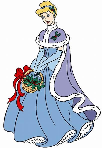 Disney Cinderella Clipart Christmas Princess Clip Cliparts