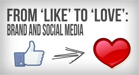 From Like To Love Brand And Social Media