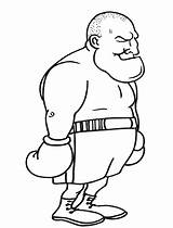 Clip Boxing Coloring Pages Cliparts Arbor Boxer sketch template