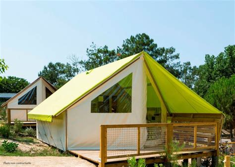 tente 4 personnes 2 chambres rental tent ecolodge 2 bedrooms oleron island