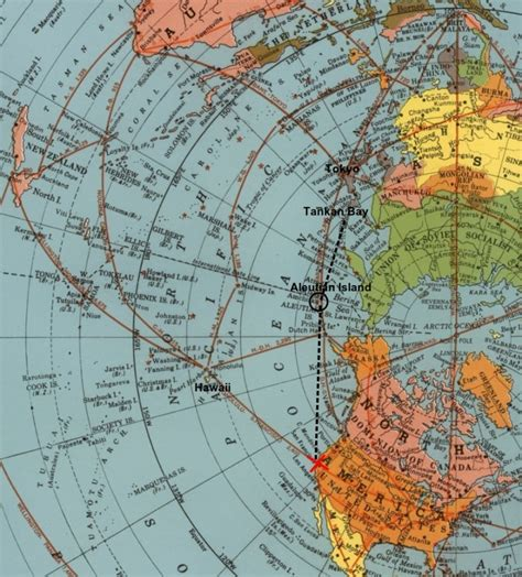 azimuthal equidistant air map of 1945 proves flat earth